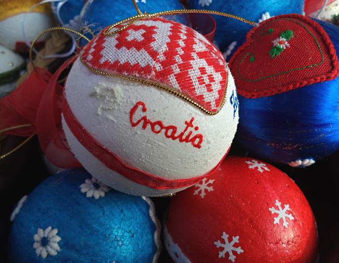 Zagreb, Croatia, Advent, souvenirs.