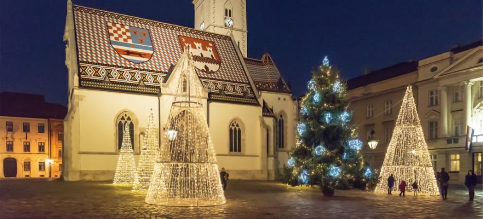 Zagreb, crkva sv. Marka, zima
